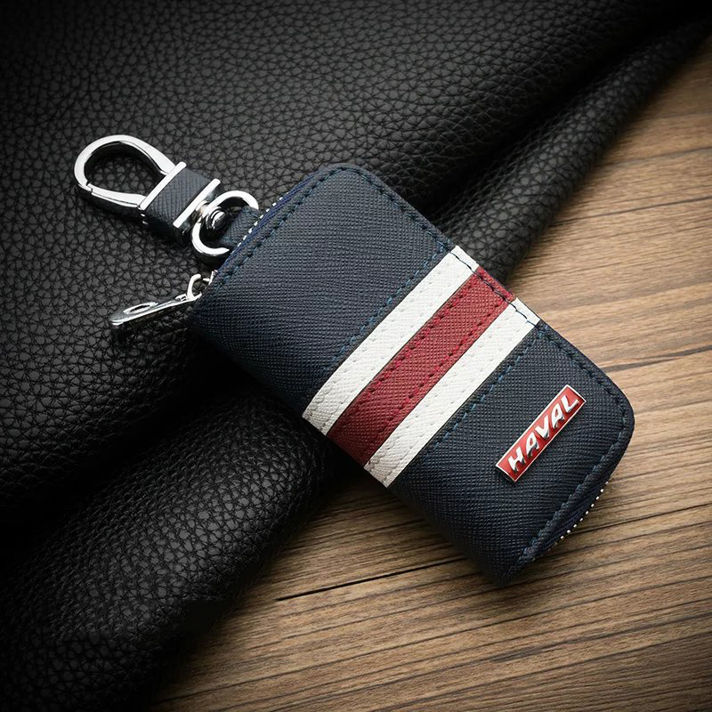 Car Leather Key Cover Case For Great Wall HAVAL H6 Coupe H7 H9 H1 H2 Key Ring Keychains Key Cover Key Bag