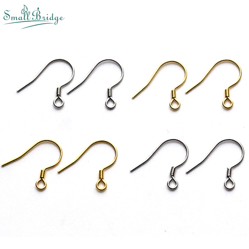 100pcs Metal Fashion Cheap Bead Prevent allergy Ear Hook Clasp For Jewelry Making DIY Women Charms Earring accessories wholesale
