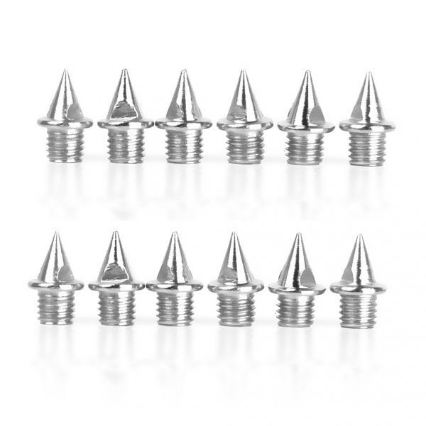 12pcs Stainless Steel Replacement Shoes Spikes Fits All Athletics Running Track Field Anti-slip Shoe Grippers Cleats Spikes