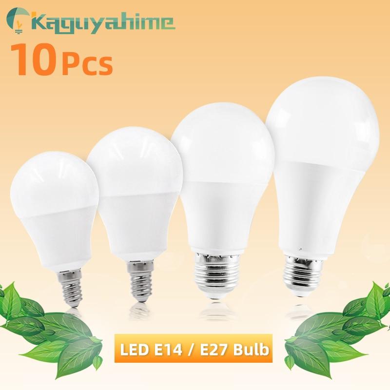 10pcs/lot LED E27 E14 Bulb Dimmable Lamps 220V 240V Light Bulb Smart IC Real Power 20W 15W 12W 9W 5W 3W Lampada LED Bombilla
