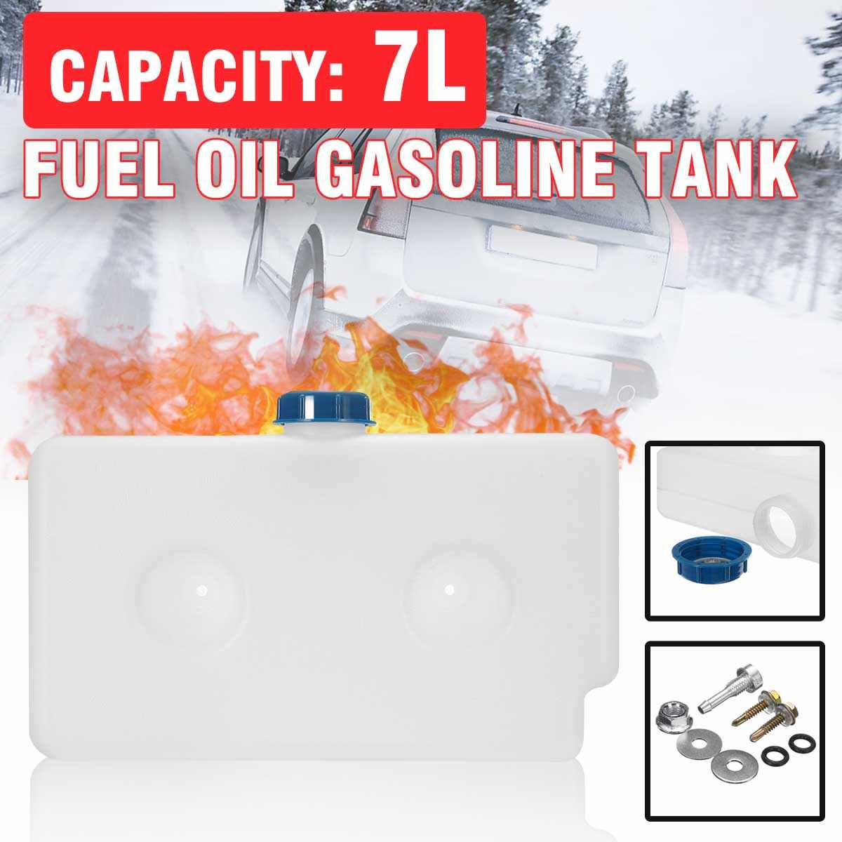 Universal 7l 2 buraco de plástico óleo combustível gasolina tanque aquecedor ar diesel carro caravana motorhome ferramenta aquecedor estacionamento