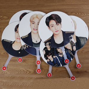 10 pcs/lot Kpop Star Hand Fan SUGA JUNGKOOK RM JIMIN V JHOPE JIN Japan Tour Fan Toy Gift Size 29.5cm
