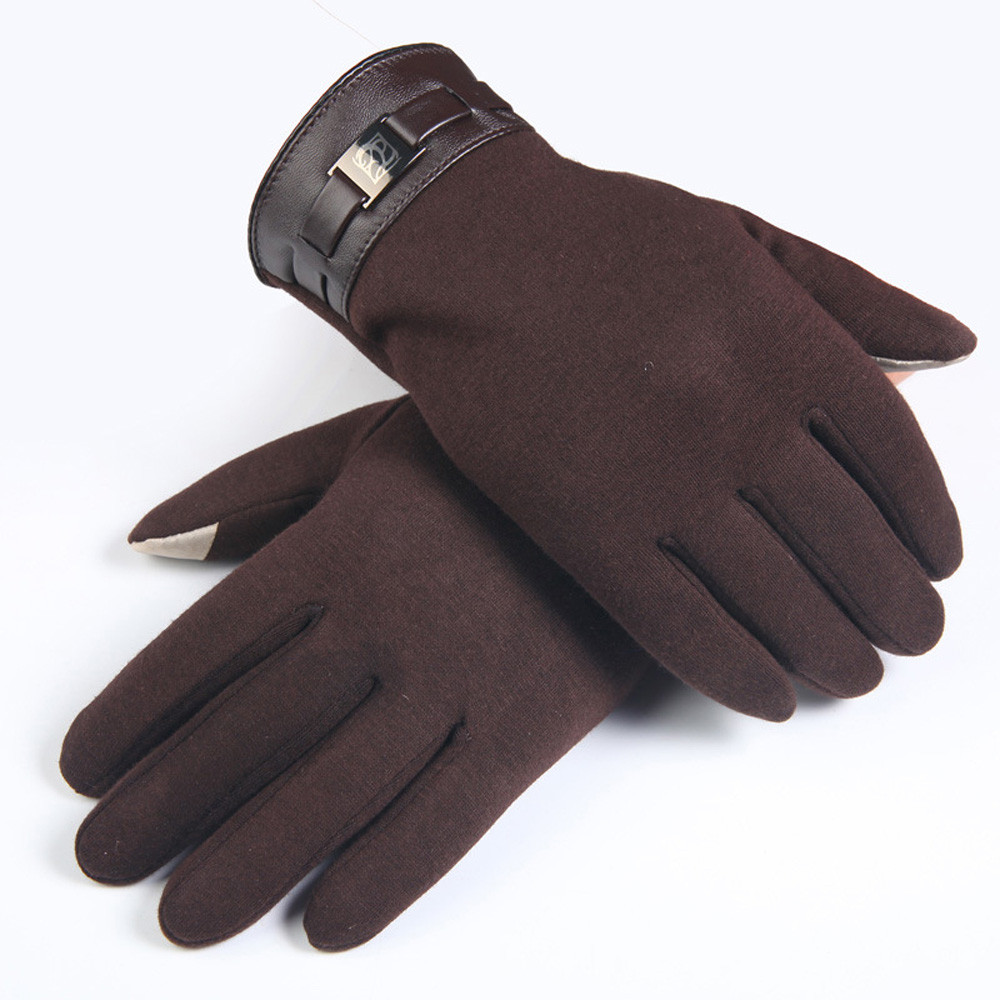 Winter Gloves Cashmere Men Or Women Driving Gloves Touch Screen Motorcycle Black Warm Mittens Handschoenen Winter 912#3