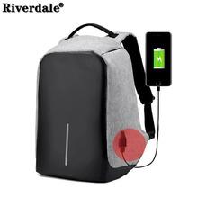 Plecak na laptopa Riverdale mężczyzna 15 6 Cal z zabezpieczeniem przeciw kradzieży plecak torba do ładowania USB plecaki torba dla kobiet 2021 torba na notebooka tanie tanio POLIESTER CN (pochodzenie) wytłoczone Miękka osłona Poniżej 20 litrów Otwór na wyjście Kieszonka na telefo Wewnętrzny przedziałek