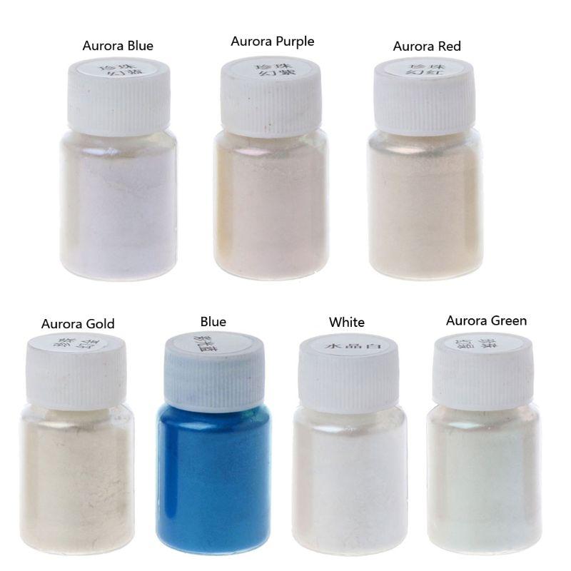 7 Colors Magic Aurora Resin Mica Pearlescent Pigments Colorants Jewelry Making