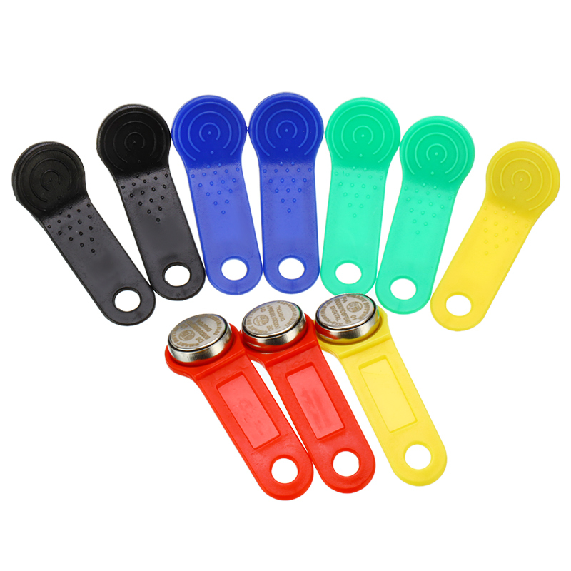 Rewritable RFID RW1990 IButton TM Touch Memory Clone Duplicate Key Copy Card Sauna Key Random Color 10pcs/lot