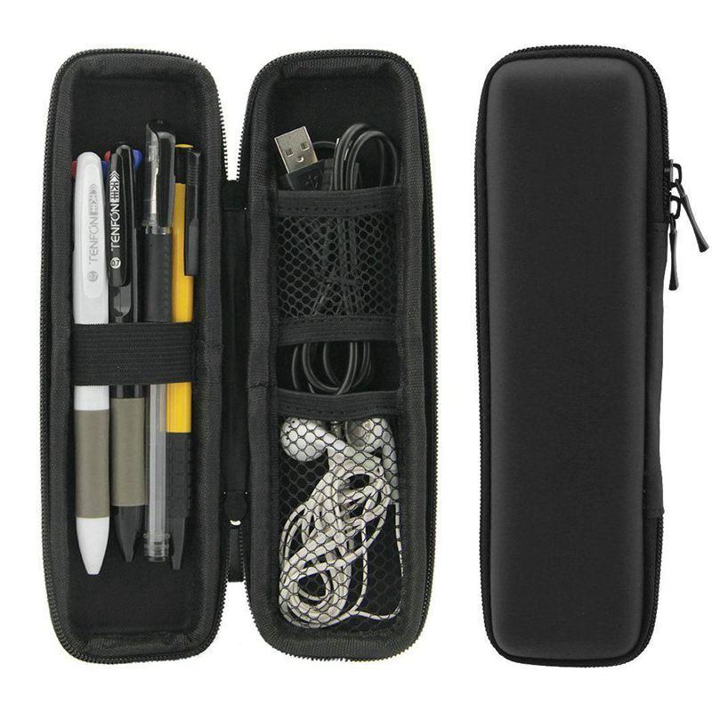 Black EVA Hard Shell Stylus Pen Pencil Case Holder Protective Carrying Box Bag Storage Container For Pen Ballpoint Pen Stylus Pe