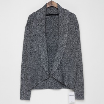 Women Shawl Collar Cardigan Sweater Knitted Style Cardigans Beige , black marl, black olive green shawl collar open front cocoon cardigan
