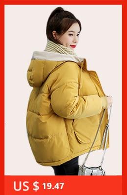 H2a9687d7d806451e8c5211244a1d3c57F 2019 women winter hooded warm coat slim plus size candy color cotton padded basic jacket female medium-long jaqueta feminina