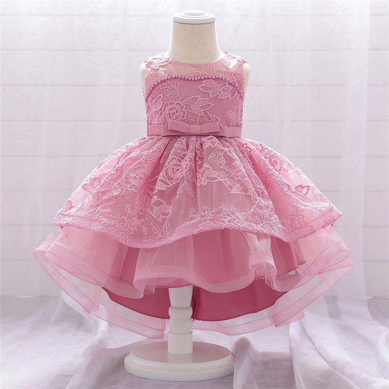Toddler Baby Girl Infant Princess Dress Baby Girl Wedding Dress Beading Embroidey Kids Party Vestidos For 1 Years Birthday