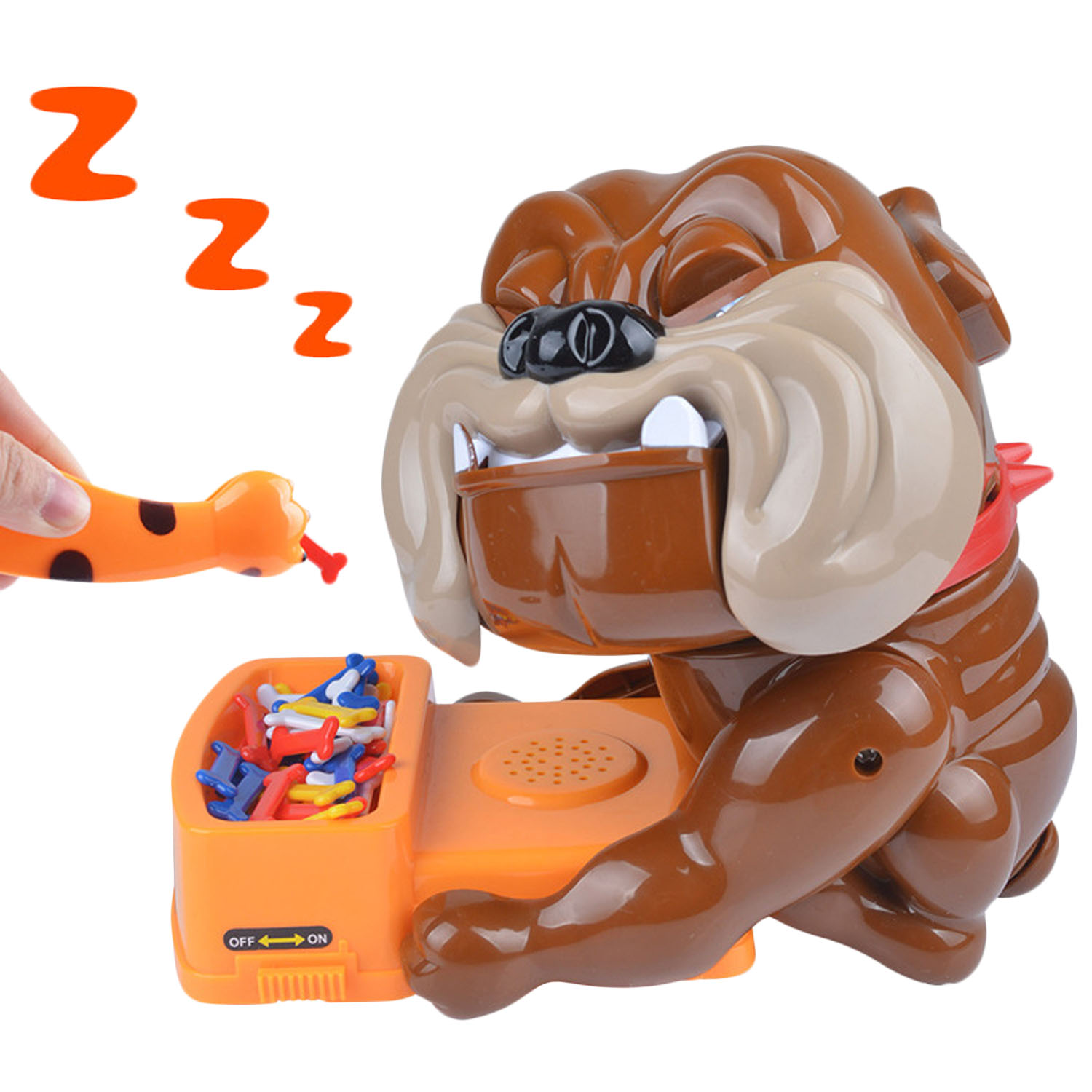 Besegad Funny Tricky Games Bad Dog Bone Action Games Toy Wake Dog Toys For Party Family Parents Kids Friends