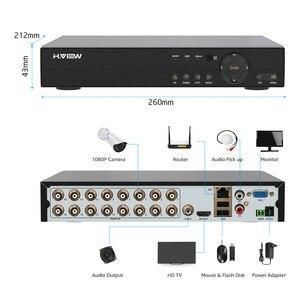 Image 4 - Камера наружного видеонаблюдения H.View, камера безопасности, 16 каналов, 1080 пикселей, DVR, поддержка iPhone, Android, дистанционный контроль