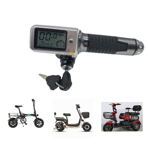 Image 2 - speedometer/odometer+throttle+LCDdisplay36v48v60v+lock/cruise+battery indicator electric scooter bike MTB tricycle DIY part stee