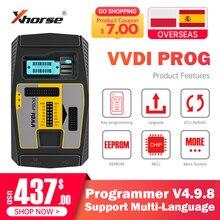 Original Xhorse VVDI Prog Programmer V4.9.8 VVDI Programmer Auto Key Tool Work With PCF79XX Adapter For BMW ISN Read Function
