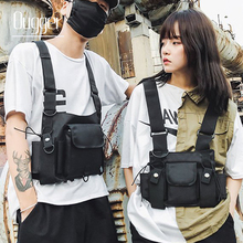 Ougger Functional Tactical Chest Bag Men Fashion Bullet Hip Hop Vest Streetwear Waist Pack Women Black Rig