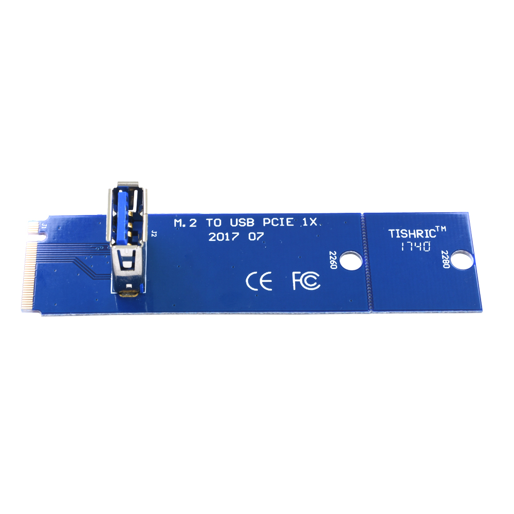 10Pcs TISHRIC NGFF M.2 To USB 3.0 Transfer Card PCIE Riser Card Key Motherboard Extender Adapter For BTC ETH Miner Mining 5