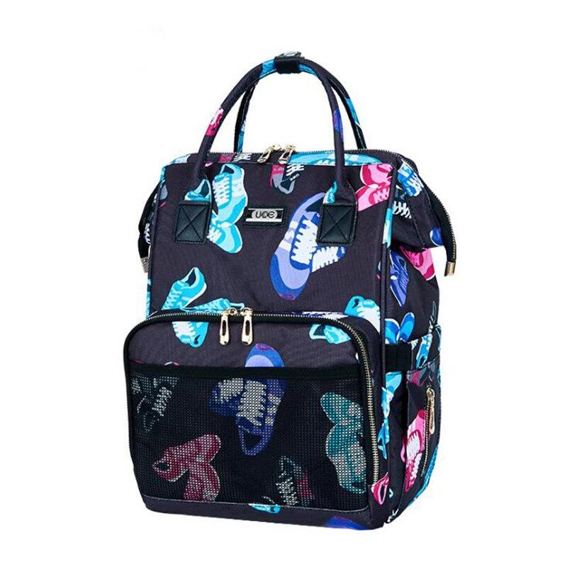 Baby Bags For Mom  Diaper Bags Mummy Backpack Pregnant Nursing Infant Printing Multifunction Shoulder Bags Waterproof BZJ007