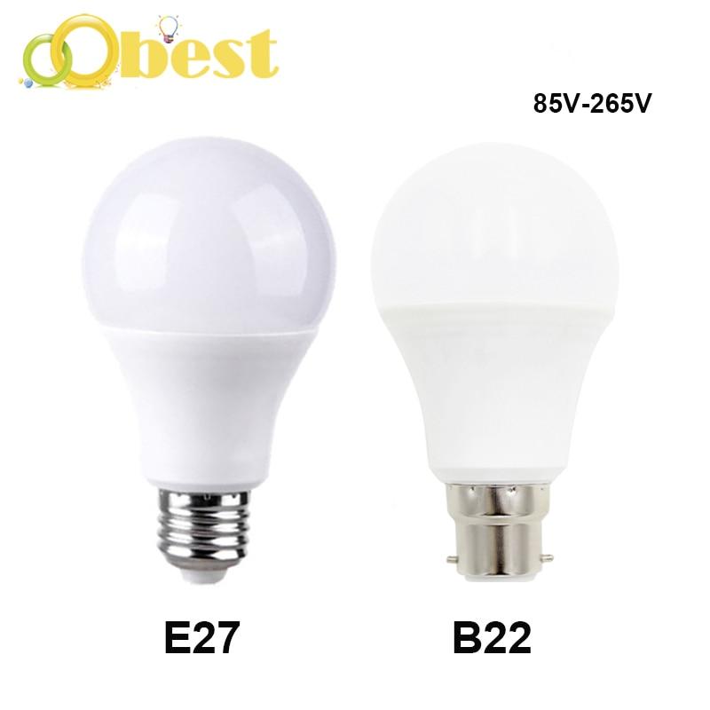 Led Lamp E27 B22 LED Light Bulb 85-265V LED Lampada Bombilla 22W 15W 9W  3W Cold White Lamps Blubs Energy Saving LED Bulb