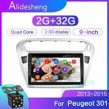 2G+ 32 2.5D 2Din Android 8,1 GO автомобильный dvd мультимедийный плеер gps для peugeot 301 Citroen Elysee радио 2013- navigatio WiFi BT