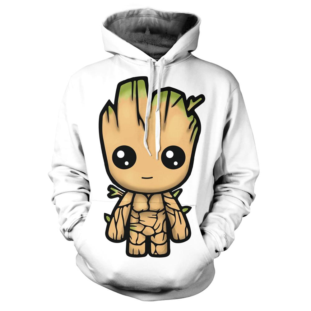 Marvel Groot Hoodies Sweatshirt Men/Women New Fashion Hip Hop Hoodie Harajuku Streetwear Casual Hoody 3D Mens Pullover Jacket