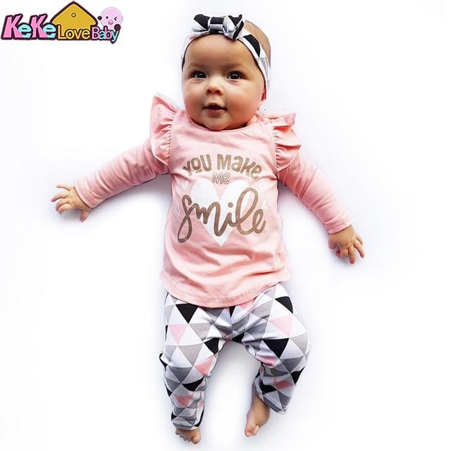 3Pcs Newborn Baby Girl Clothes Set  1