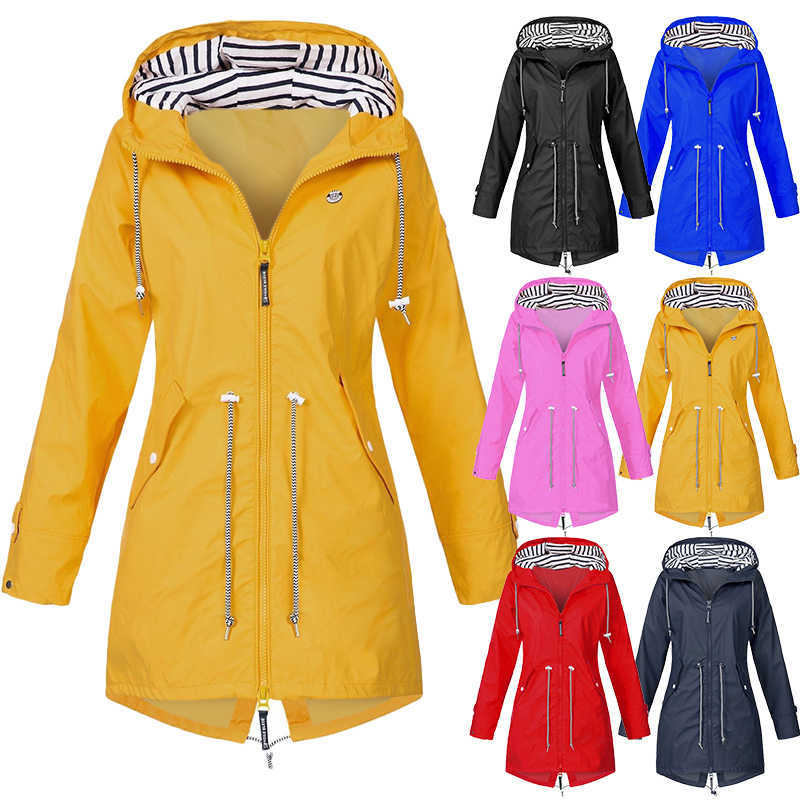 Wipalo Women Waterproof Windproof Hooded Raincoat Ladies Thin Rain Coat Ponchos Jacket Female Chubasqueros Mujer Capa De Chuva