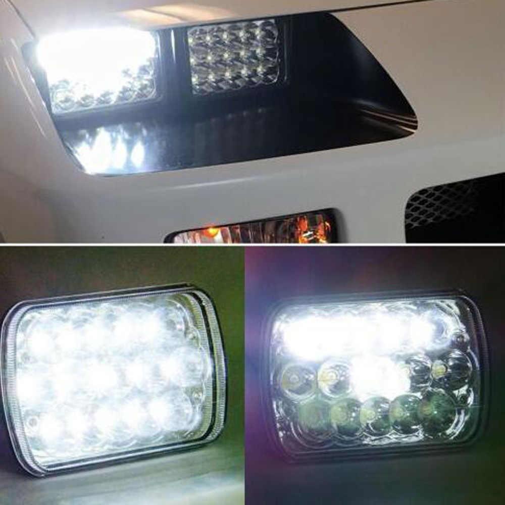 45W Super Bright LED Headlights Explosion-proof Shockproof Anti-corrosion 10-30V DC 6500K Black Car Accessories
