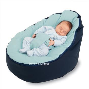 Miękkie krzesełko dla dziecka niemowlę worek fasoli obejmuje łóżka bez wypełniacza pufa do karmienia dziecka Snuggle łóżko z paskiem do ochrony bezpieczeństwa tanie i dobre opinie runboy 70x50x40cm Jedno miejsce Gąbka