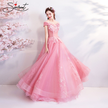 SERMENT Pink Three-dimensional Cherry Blossom Flowers Exclusive Design Bride Lace Soft Yarn Pregnant Women Fat Wedding Dress