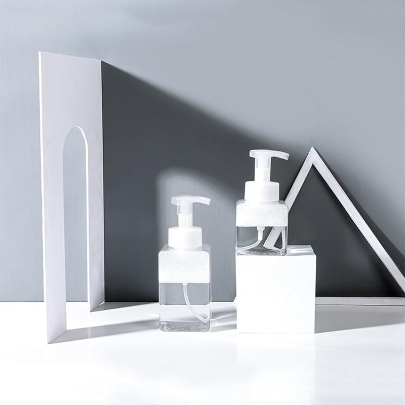 250/400ml Liquid Soap Foam Refillable Bottles Foaming Bottle Jar PET Travel Clear Squeezed Hand Sanitizer Dispenser Bottle