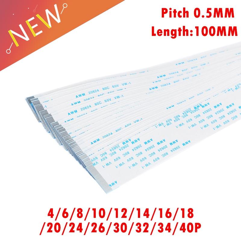1.0mm AWM 20624 Length 6-40CM 30Pin FFC Flexible Flat Cable Ribbon Pitch 0.5