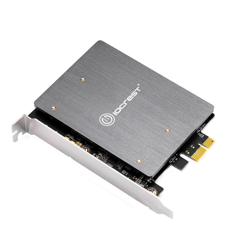 M.2 Adapter PCIE <font><b>to</b></font> <font><b>M2</b></font> Adapter Dual M.2 NGFF <font><b>SATA</b></font> SSD B Key PCIe 3.0 x1 Adapter with Heatsink Support 2230 2242 2260 <font><b>2280</b></font> <font><b>M2</b></font> SSD image