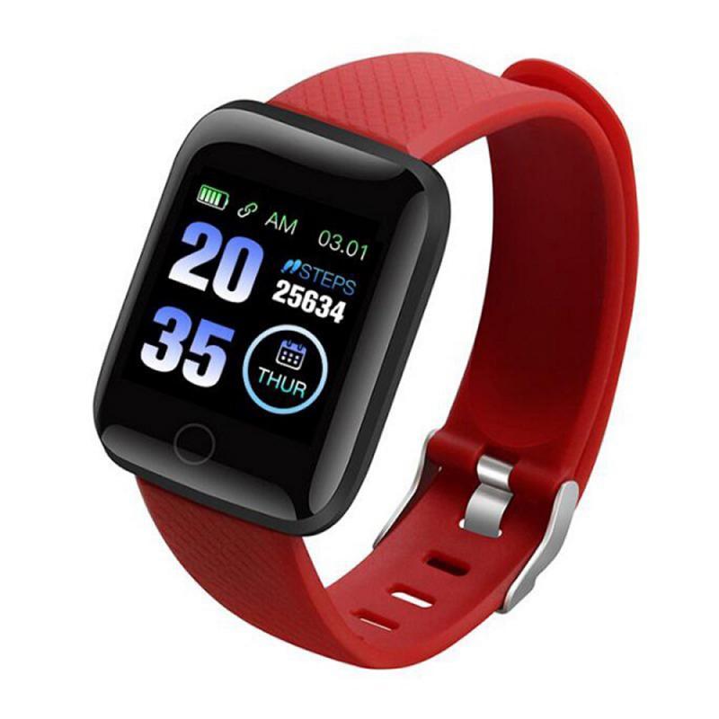 116 plus banda inteligente relógio pulseira tela colorida freqüência cardíaca monitoramento de pressão arterial faixa movimento ip67 à prova dip67 água