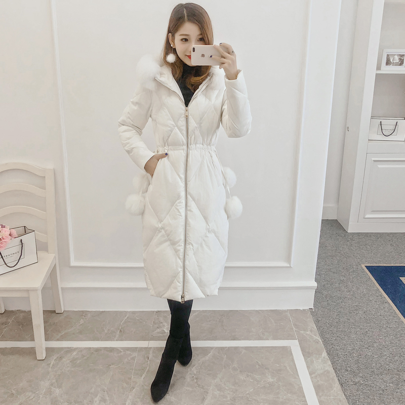 Winter Jacket Women Long Womens Down Jackets Coats Female Thick Warm Down Parka Real Fox Fur Hooded Clothes 2020 LWL1283