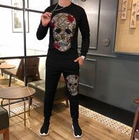 Brand Men Sets Fashion Autumn winter Sporting Suit Sweatshirt+Sweatpant Tracksuit Men's Clothing 2 Pieces Sets