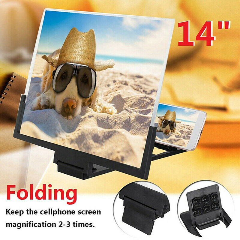 14 Inches 3D HD Phone Screen Magnifier Amplifier Movie Video Enlarger Screen FKU66
