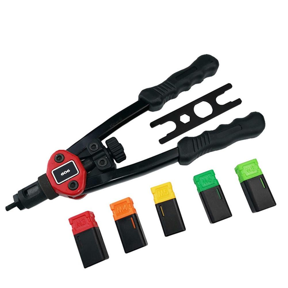 Riveter Gun Auto Rivet Tool Blind Rivet Nut Gun Hand Insert Nut Tool Manual Mandrels M3 M4 M5 M6 M8 For Car Machine Repairing