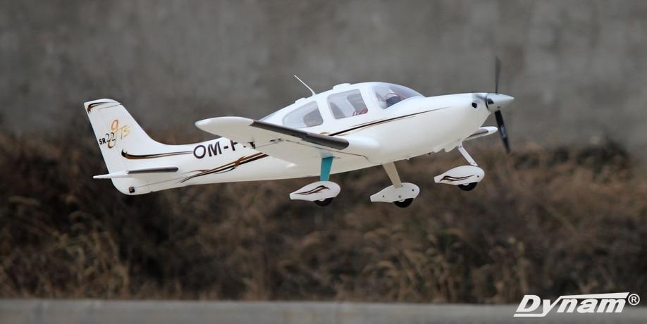 Белые весы Dynam SR22 1400 мм Wingspan RC DY8936
