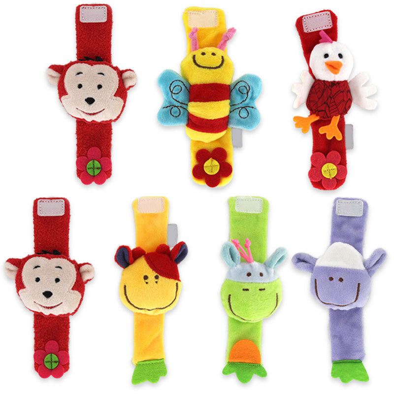 Baby Rattles Toys Adorable Animal Wrist Rattle Soft Educational Toys For Infant Hot Sales