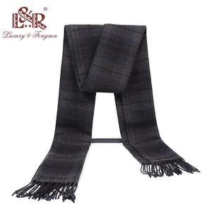 Image 3 - Кашемировый мужской шарф, зимний тёплый платок, клетчатые шарфы, модные повседневные шерстяные шарфы, Мужская Толстая шаль Sjaal, 2020