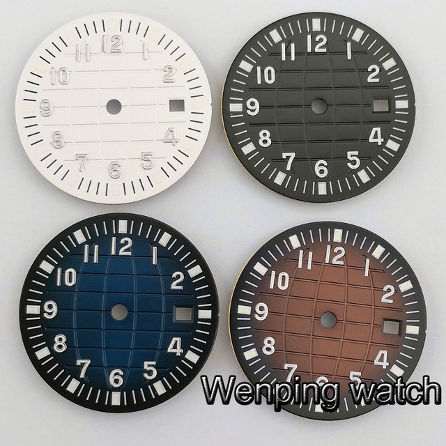 31,5mm sterile zifferblatt fit ETA 2824 2836 Miyota 8205 8215 821A 82serie mingzhu 2813 3804 bewegung uhr zifferblatt
