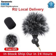 Saramonic SR XM1 Không Dây Ghi Vlog Micro Cho Gopro 8 Max 7 6 TRS Cắm Mic Cho Camera Hành Động DSLR Sony RX100 VII Camixer