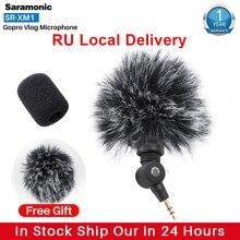 Saramonic-micrófono inalámbrico SR-XM1 para cámara de acción, dispositivo de grabación Vlog, para Gopro 8 Max 7 6, enchufe de TRS, DSLR, Sony RX100 VII Camixer