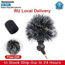 Saramonic SR XM1 registro sem fio vlog microfone para gopro 8 max 7 6 trs plug mic para câmera de ação dslr sony rx100 vii casmixer