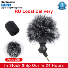 Saramonic SR XM1ワイヤレス記録vlogマイク移動プロ8最大7 6 trsプラグマイクアクションカメラ用一眼RX100 vii camixer