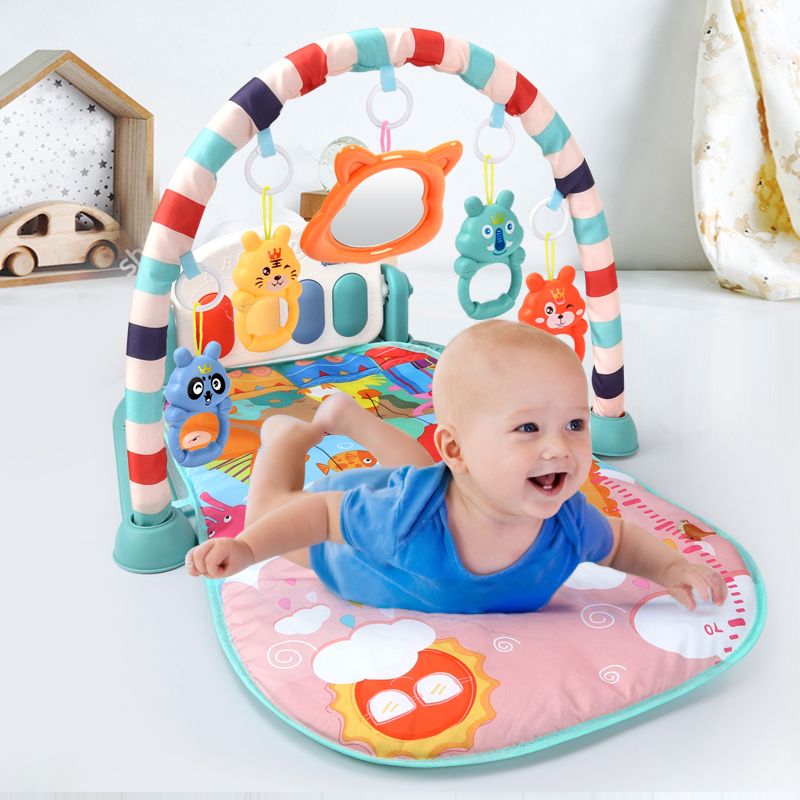 Baby Play Mat Educational Puzzle Carpet With Piano Keyboard  Lullaby Music Kids Gym Crawling Activity  Rug Toys For 0-12 Months