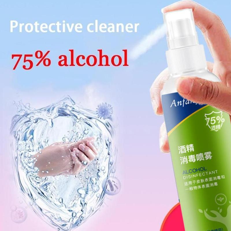 Portable Hand Sanitiser Disposable Antibacterial Gel 75% Alcohol Non-irritating Antibacterial Hand Gel Household Cleaning Spray