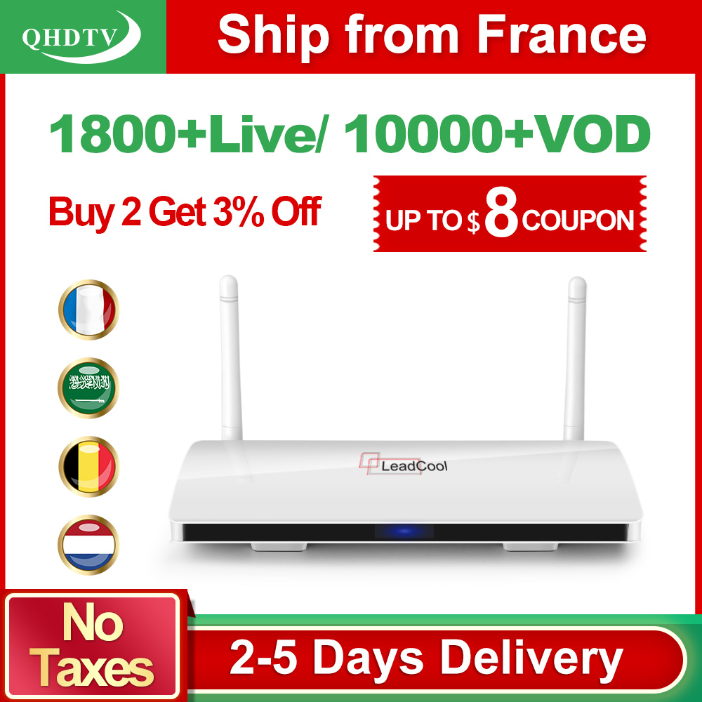 Arabic IPTV France IP TV 1 Year Leadcool Android 8 1 Box QHDTV Code French IPTV