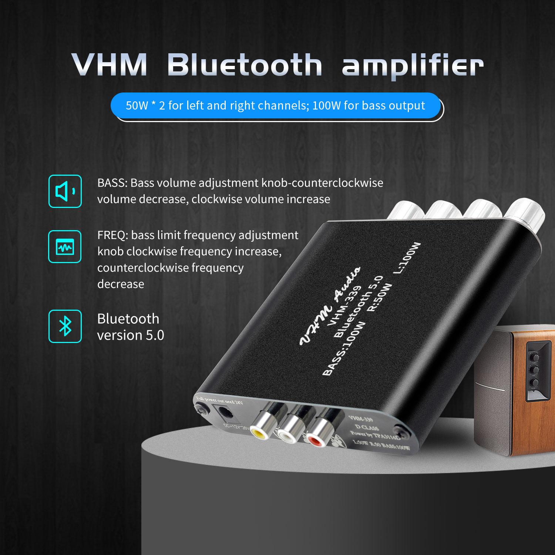 Bluetooth 5 0 TPA3116D2 HIFI Digital Power Amplifier  2 1 Channel 2 50W 100W Stereo Power Audio Class D Bass Subwoofer Amplifier