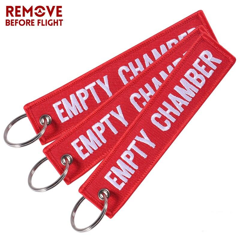3 PÇS/LOTE Câmara Vazia Vermelho Keychain para Presentes de Natal Promoção Presente Da Aviação Chaveiros Etiqueta de Bagagem Bordado Tripulação Da Corrente Chave